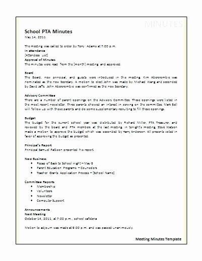 Hoa Meeting Minutes Template Inspirational Homeowners association Meeting Minutes Template Awesome