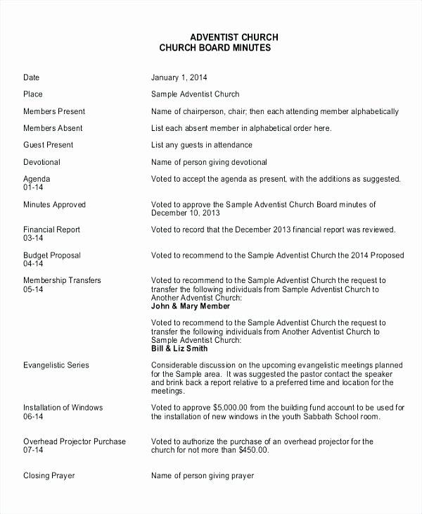 Hoa Meeting Minutes Template New Board Meeting Report Template Best S Secretary
