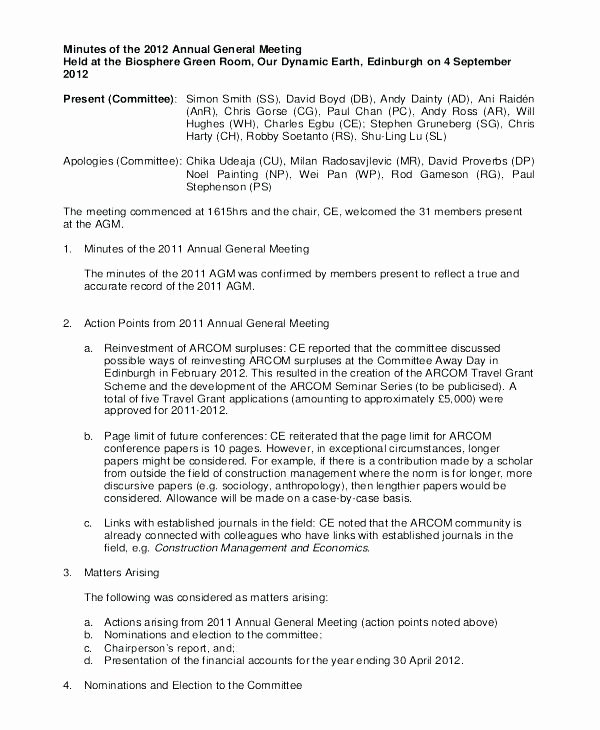 Hoa Meeting Minutes Template New Homeowners association Meeting Minutes Template Awesome