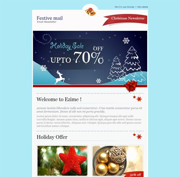 Holiday E Mail Template Awesome 122 Best Mailchimp Images On Pinterest