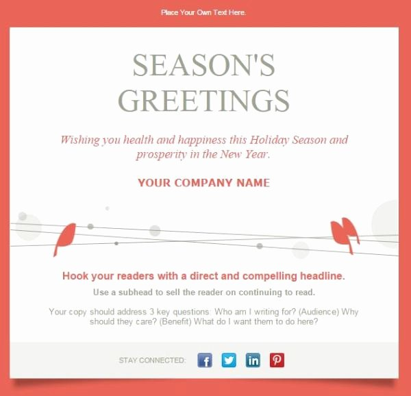 Holiday E Mail Template Awesome 7 Holiday Email Templates for Small Businesses & Nonprofits