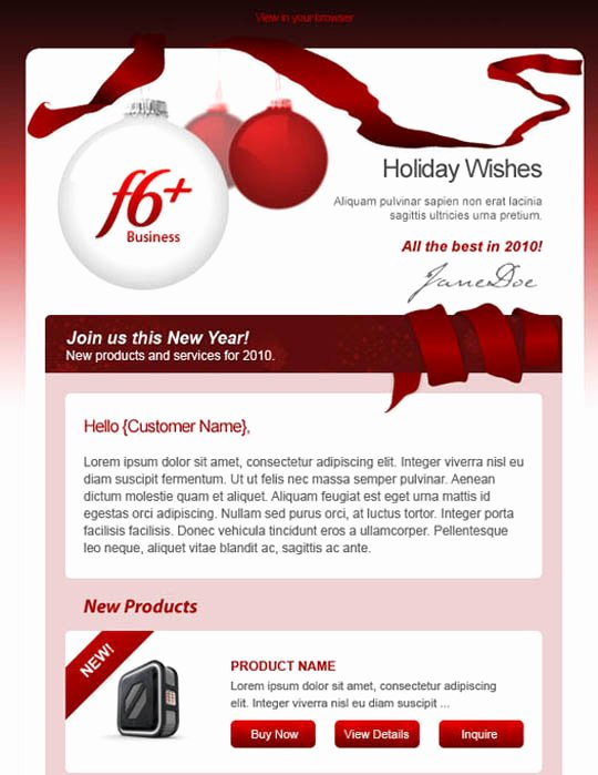 Holiday E Mail Template Beautiful 17 Beautifully Designed Christmas Email Templates for