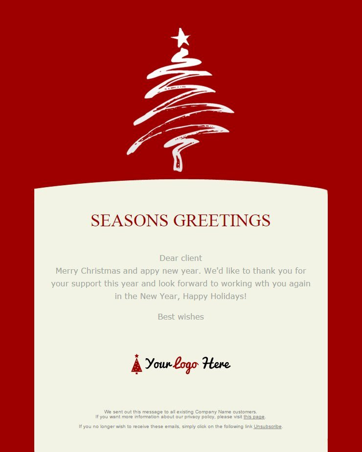 Holiday E Mail Template Best Of 104 20 Free Christmas and New Year Email Templates