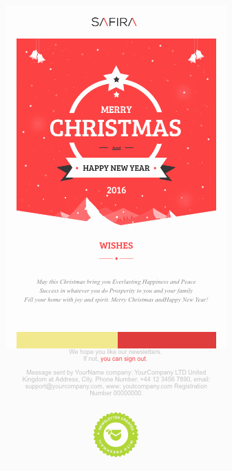 Holiday E Mail Template Fresh Christmas Email Template Ideas with 15 Inspirational Examples