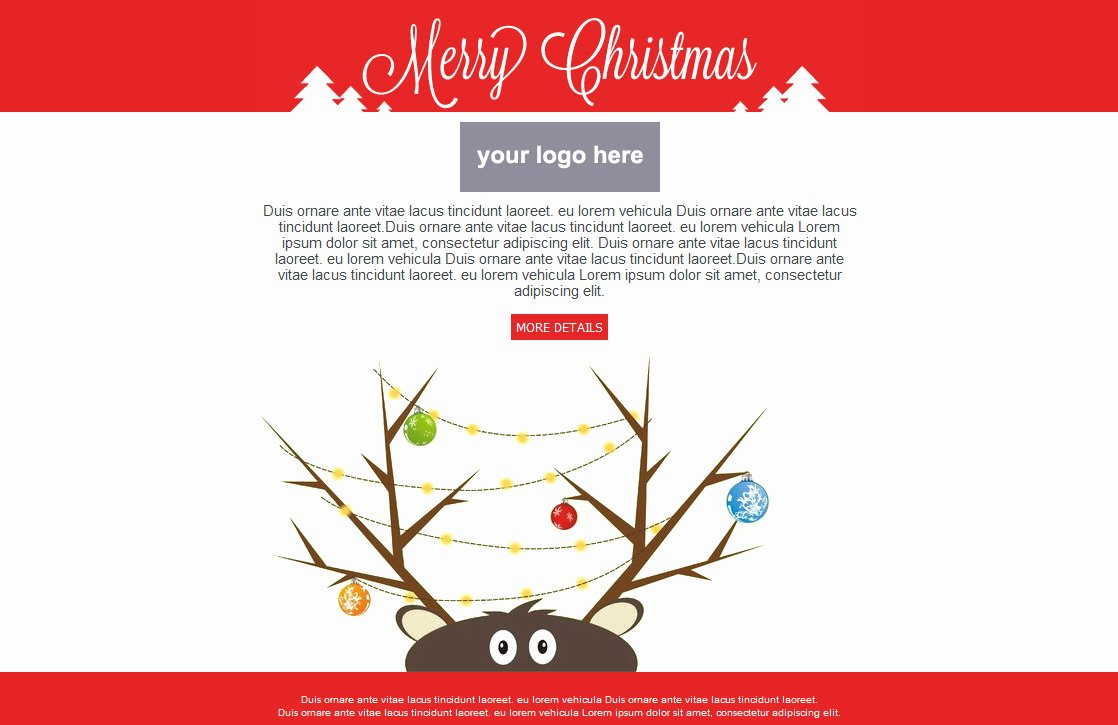 Holiday E Mail Template Fresh Free Email Templates for Christmas Card Greeting