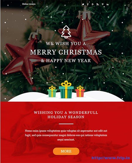 Holiday E Mail Template Inspirational 20 Best Christmas & New Year Email Templates 2018