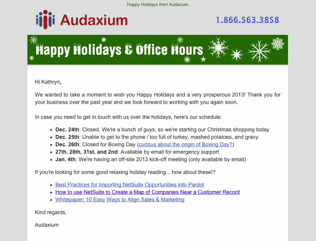 Holiday E Mail Template Inspirational 7 Examples Of Successful Email Templates A Case Study