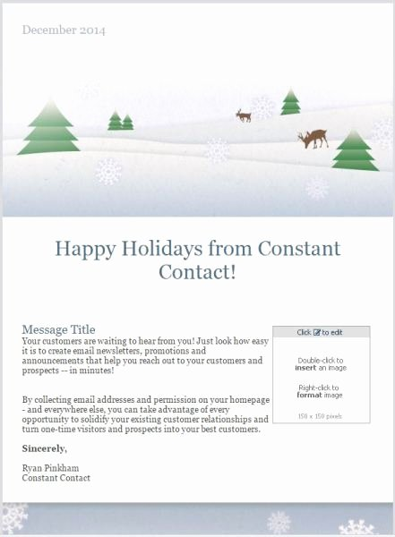Holiday E Mail Template Inspirational 7 Holiday Email Templates for Small Businesses & Nonprofits