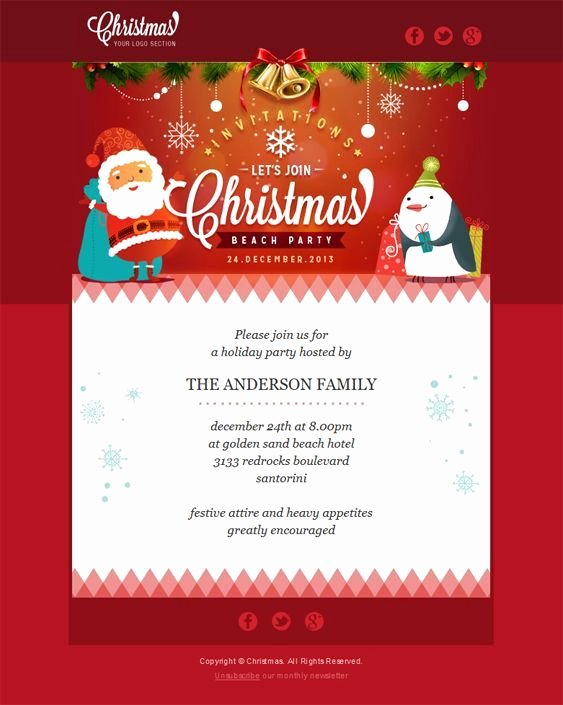 Holiday E Mail Template Lovely 22 Inspirational Christmas HTML Email Templates