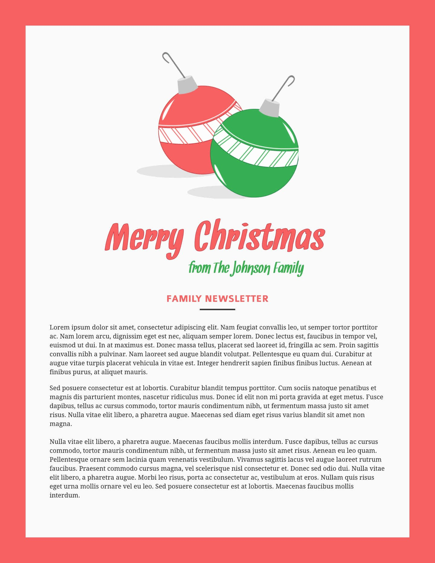 Holiday E Mail Template Lovely Free Printable Newsletter Templates & Email Newsletter