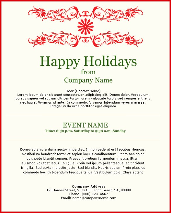 Holiday E Mail Template Luxury 11 Exceptional Email Invitation Templates Free Sample