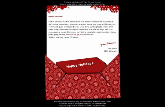 Holiday E Mail Template Luxury 17 Beautifully Designed Christmas Email Templates for