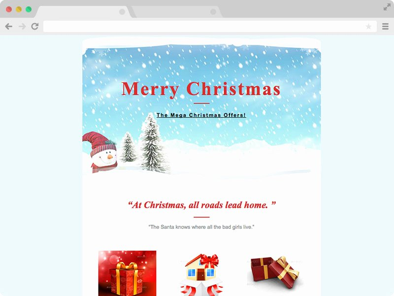Holiday E Mail Template Luxury Christmas Email Responsive Christmas Email Template