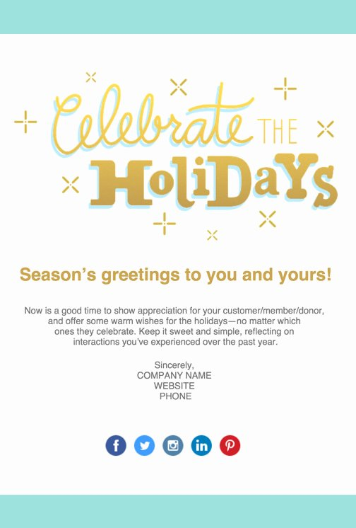 Holiday E Mail Template Luxury Email Templates