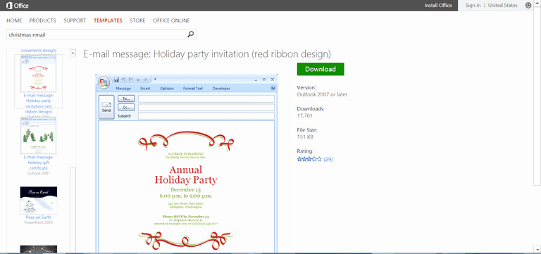 Holiday E Mail Template New Microsoft S Best Free Diy Christmas Templates