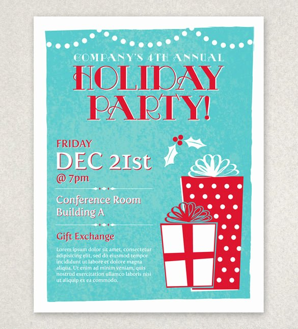 Holiday Flyer Template Word Best Of 27 Holiday Party Flyer Templates Psd