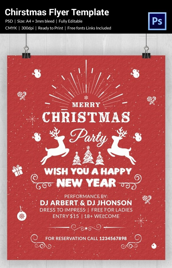 Holiday Flyer Template Word Best Of 60 Christmas Flyer Templates Free Psd Ai Illustrator