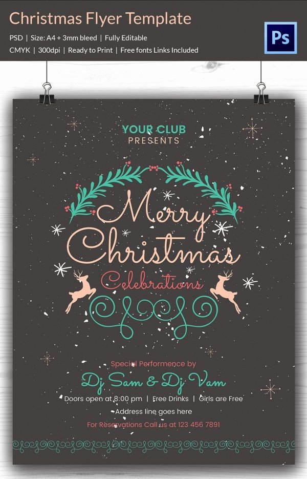 Holiday Flyer Template Word Elegant 60 Christmas Flyer Templates Free Psd Ai Illustrator