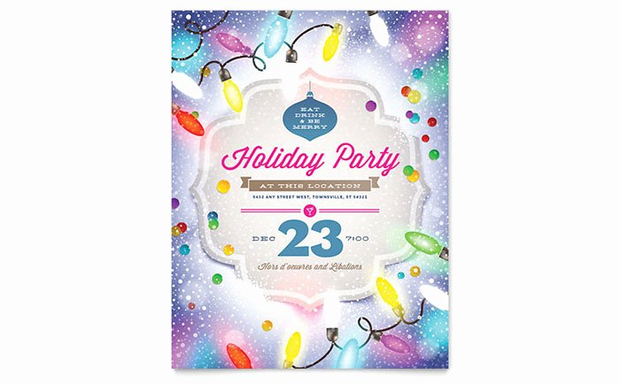 Holiday Flyer Template Word Fresh Holiday Party Flyer Template Word & Publisher