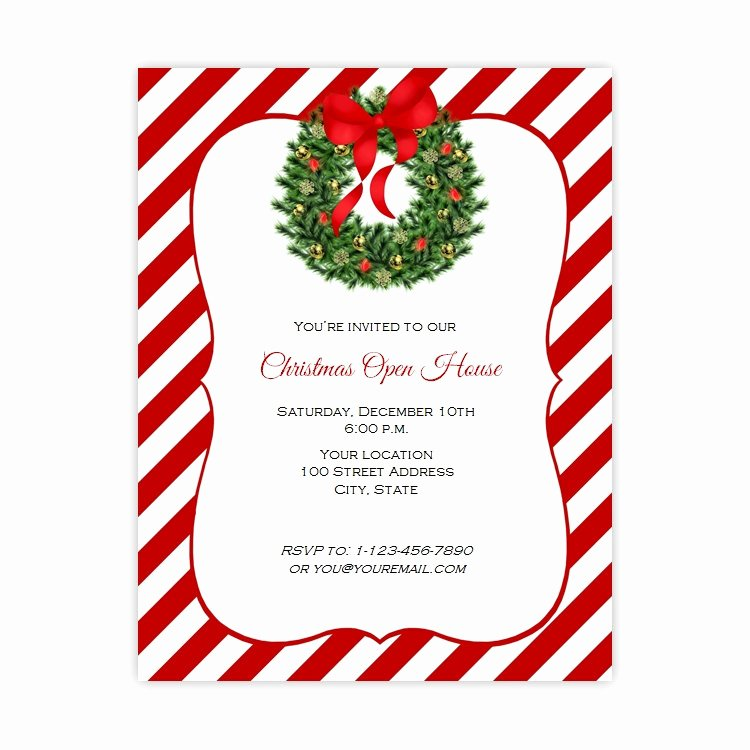 Holiday Flyer Template Word Inspirational Christmas Open House Flyer Template Free Templates Data