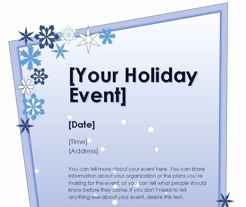 Holiday Flyer Template Word Lovely Holiday Templates for Word Stationery Free Holiday