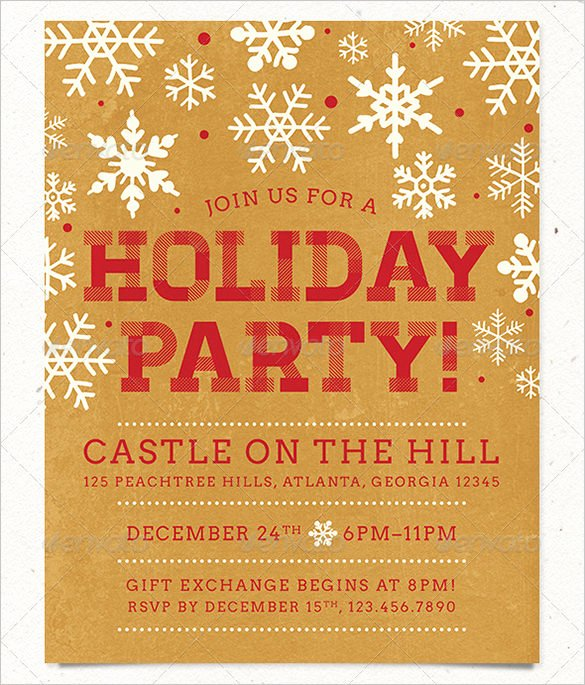 Holiday Party Flyer Template Awesome 27 Holiday Party Flyer Templates Psd