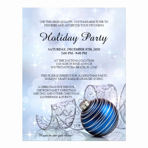 Holiday Party Flyer Template Awesome Christmas Flyer Template for Holiday events