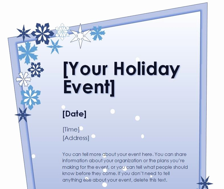 Holiday Party Flyer Template Best Of Holiday Flyer Template