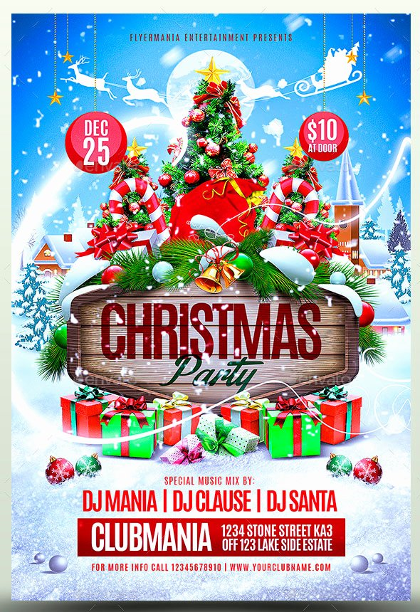 Holiday Party Flyer Template Fresh 25 Christmas & New Year Party Psd Flyer Templates