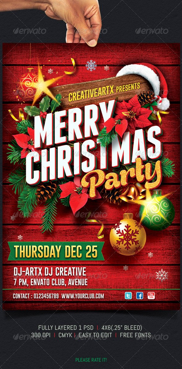 Holiday Party Flyer Template Fresh Christmas Party Flyer by Creativeartx