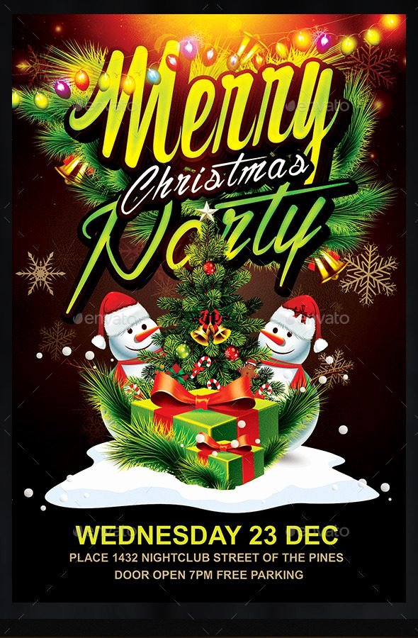 Holiday Party Flyer Template Lovely 30 Free Christmas Party Flyers and New Year Party Flyer