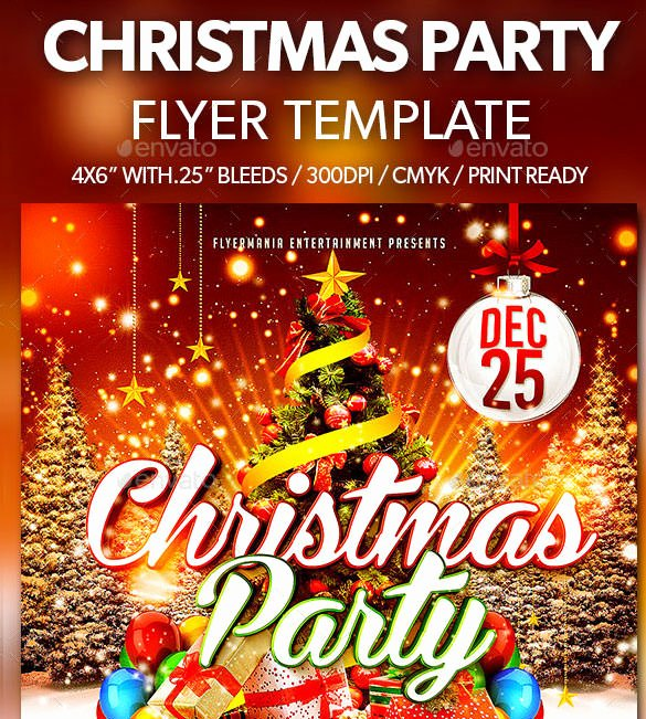 Holiday Party Flyer Template Lovely 60 Christmas Flyer Templates Free Psd Ai Illustrator