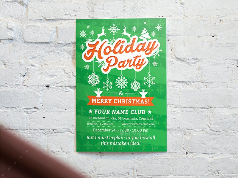 Holiday Party Flyer Template Luxury Holiday Party Flyer Template 02 by Wutip2