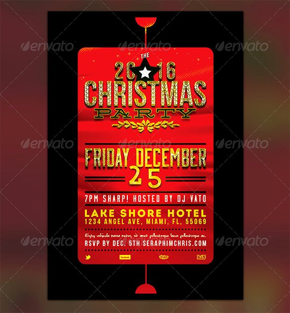 Holiday Party Flyer Template New 27 Holiday Party Flyer Templates Psd