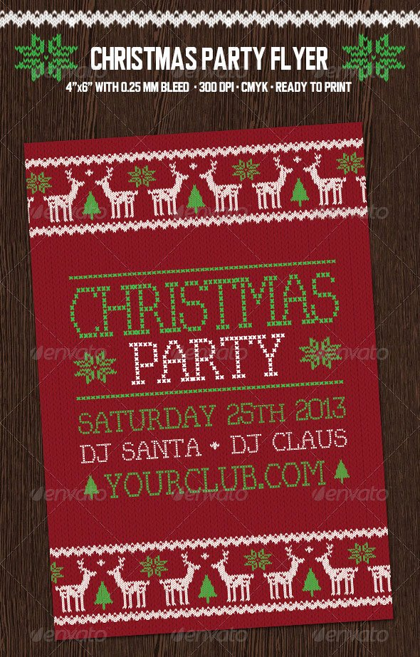 Holiday Party Flyer Template New 30 Christmas Holiday Psd & Ai Flyer Templates