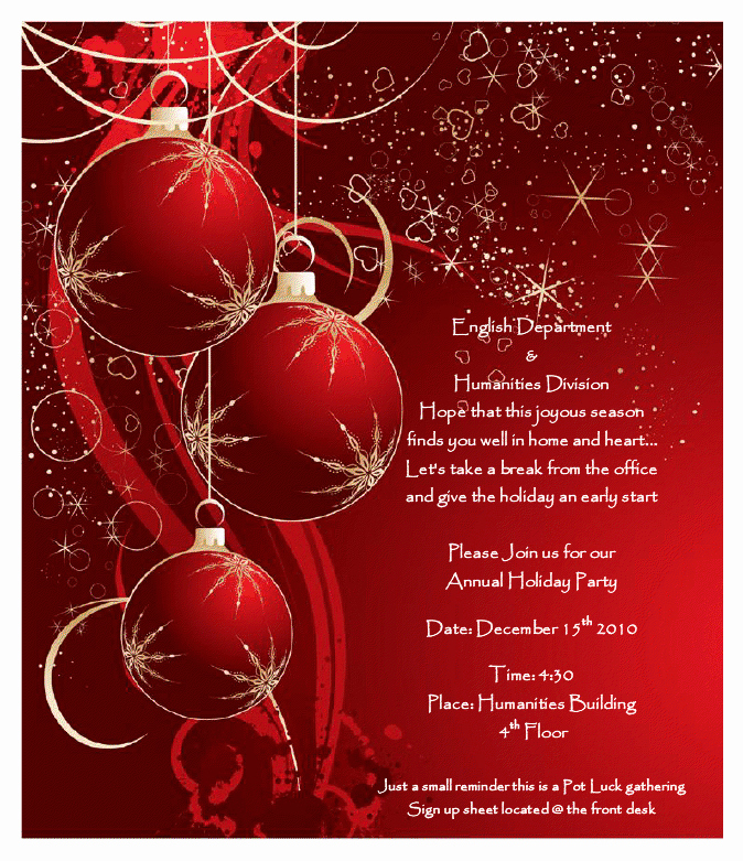 Holiday Party Flyer Template New the Longest island November 2010