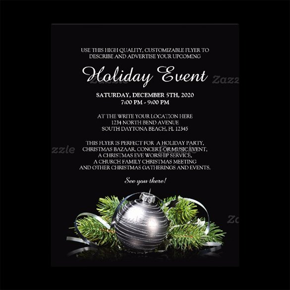 Holiday Party Flyer Template Unique 27 Holiday Party Flyer Templates Psd