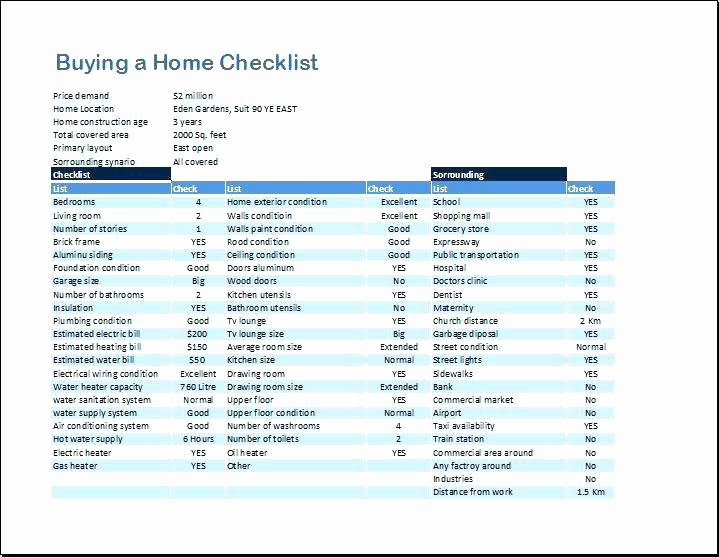 Home Buyer Checklist Template Luxury Home Checklist Related Post Home Inspection Checklist for
