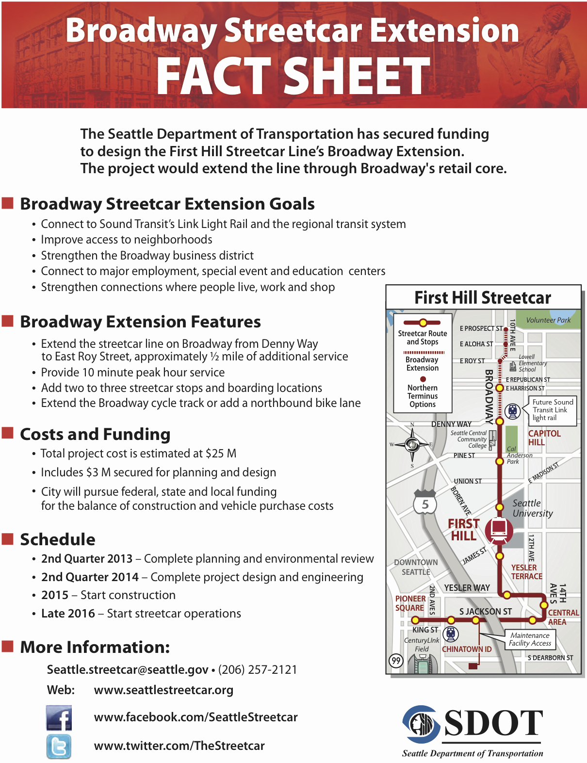 Home Fact Sheet Template Luxury Broadway Streetcar Extention Will Include Cycle Track