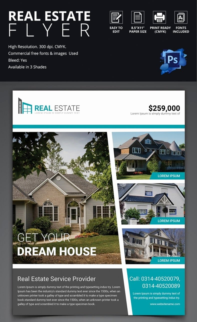 Home for Sale Template Beautiful 44 Psd Real Estate Marketing Flyer Templates