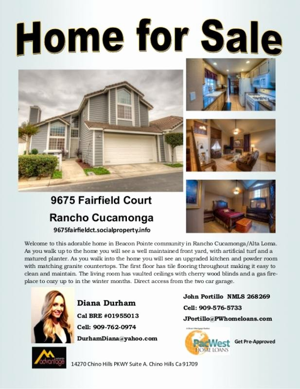 Home for Sale Template Beautiful Home for Sale Flyer