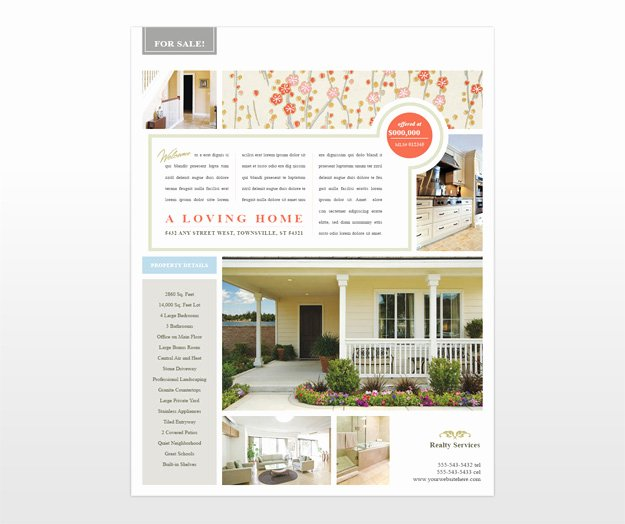 Home for Sale Template Beautiful Real Estate Sales