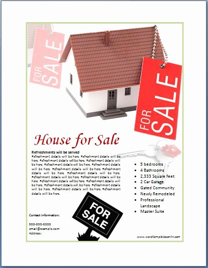 Home for Sale Template Best Of Sample Real Estate Poster Template