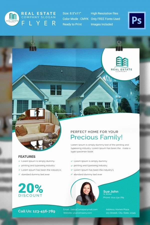 Home for Sale Template Inspirational 15 Stylish House for Sale Flyer Templates & Designs