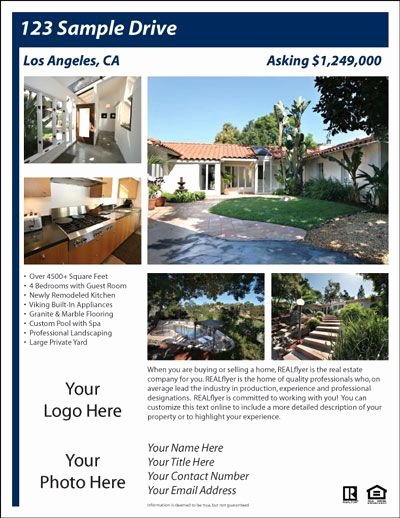 Home for Sale Template Lovely for Sale by Owner Flyer House Exterior