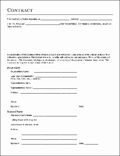 Home Remodeling Contract Template Fresh Free Printable Home Improvement Contract form Generic