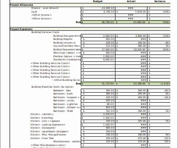 Home Renovation Budget Template Awesome Free Home Renovation Bud Template Excel Tmp Home