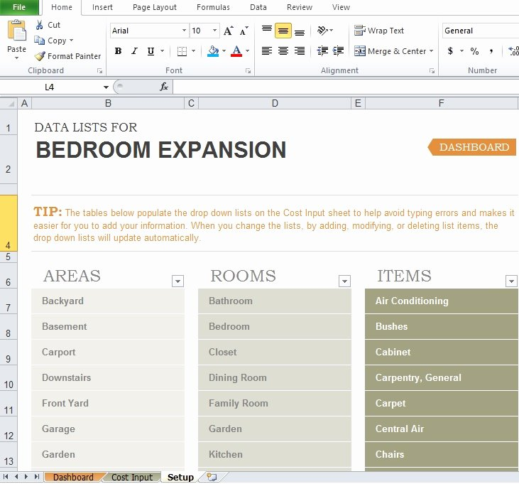 Home Renovation Budget Template Luxury Free Home Renovation Bud Template Excel Tmp