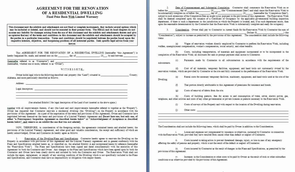 Home Repair Contract Template Luxury Home Repair Contract Template