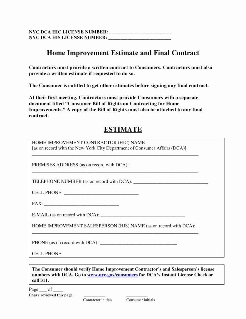 Home Repair Contract Template Unique 7 Home Repair Contract Templates Docs Word Pages
